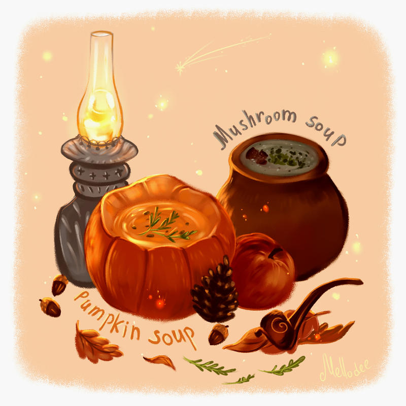 An Ode to Autumn Soups by Mellodee
