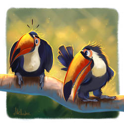 Toucans by Mellodee