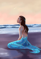 Mermaid by Mellodee