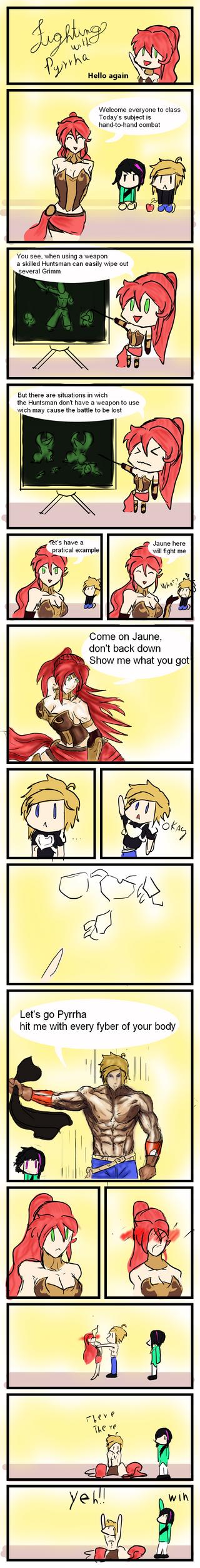 Fighting with Pyrrha 1 by LeonardoFRei