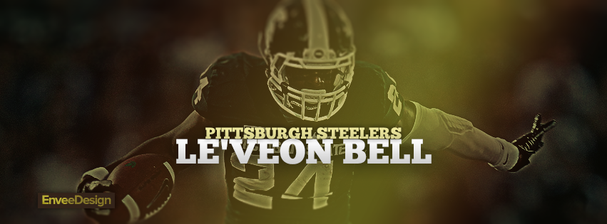 Leveon bell pittsburgh steelers facebook cover by enveedesigns voltagebd Images