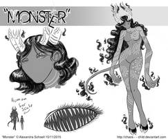 Month of ''Monster'' - Day 11 - Monster concept 03 by Chaos--Child