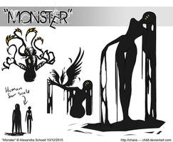 Month of ''Monster'' - Day 12 - Monster concept 04 by Chaos--Child
