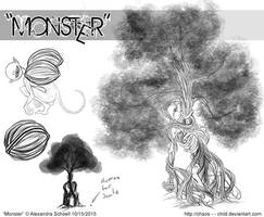Month of ''Monster'' - Day 15 - Monster concept 07 by Chaos--Child