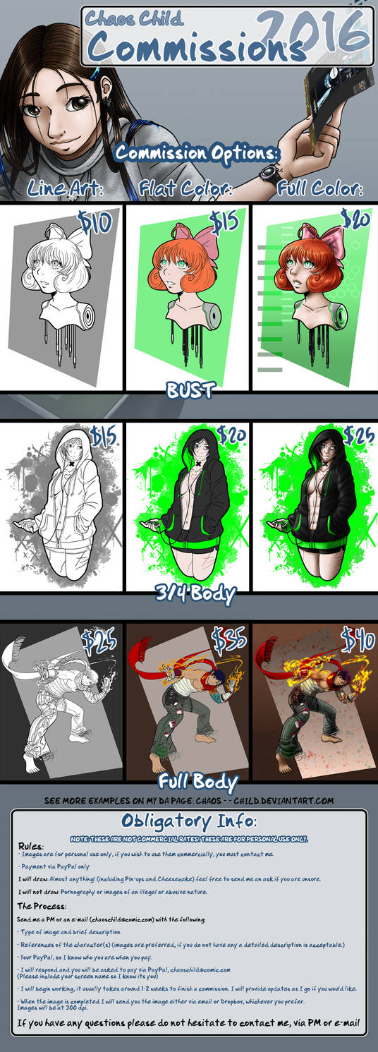 2016 Commissions are Open!
