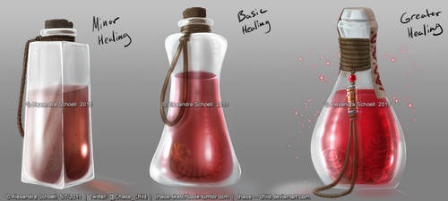 Concept Art - Healing Potions