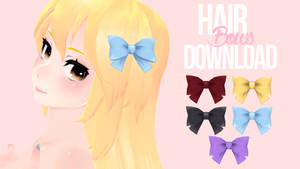 [MMD] Hairbow Pack DL