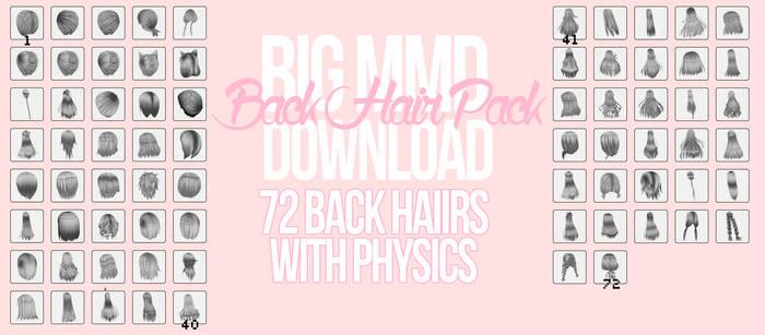[MMD] Big Back Hair Pack DL *UPDATED*