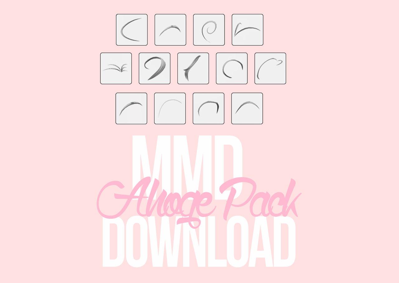 [MMD] Ahoge Pack DL *UPDATED*