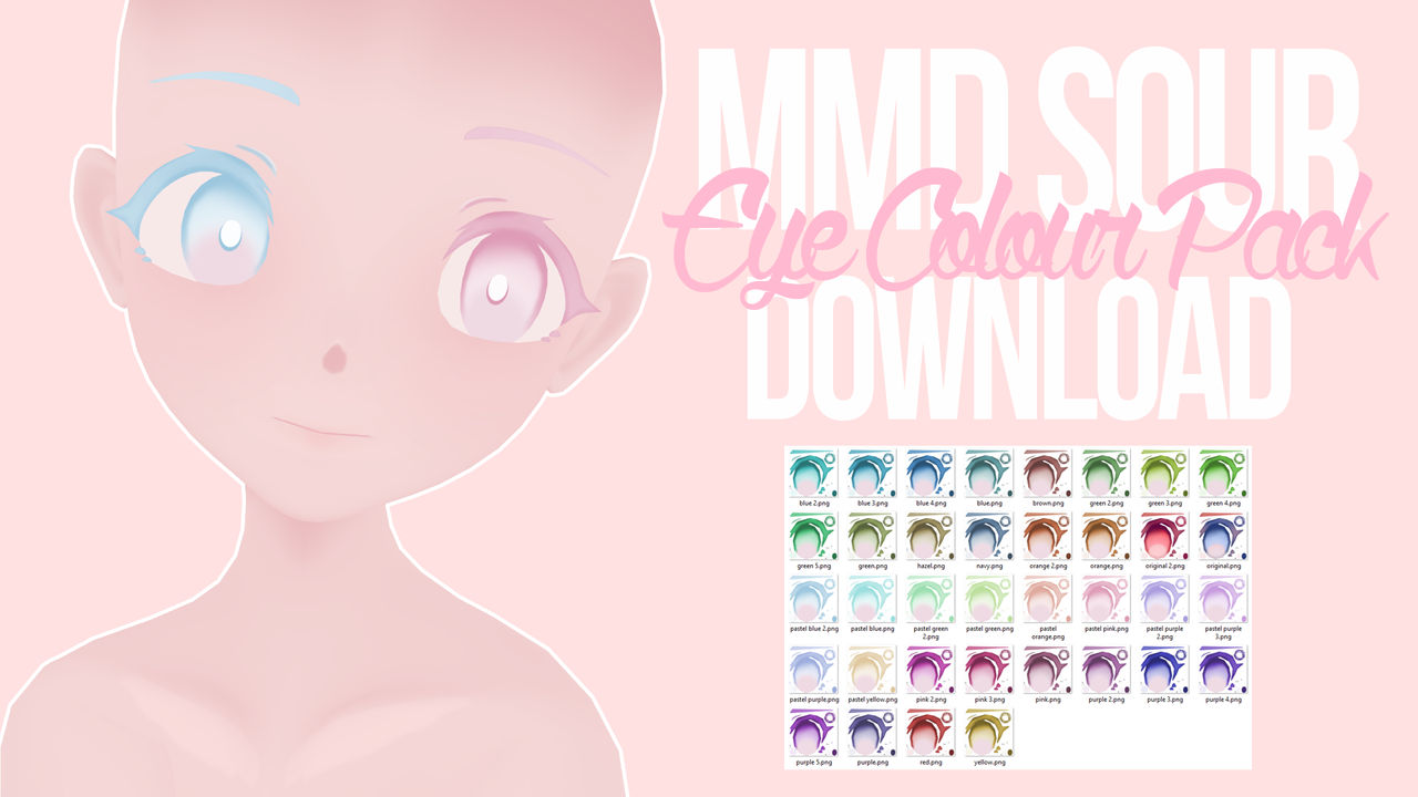 [MMD] Sour Eye Colour Pack DL