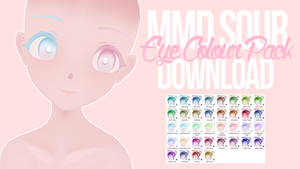 [MMD] Sour Eye Colour Pack DL by cutiebxt