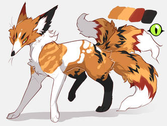 [Closed] [One-off Design] Three-tailed Kitsune