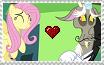 Fluttershy x Discord Stamp by CallMeBlackBeauty