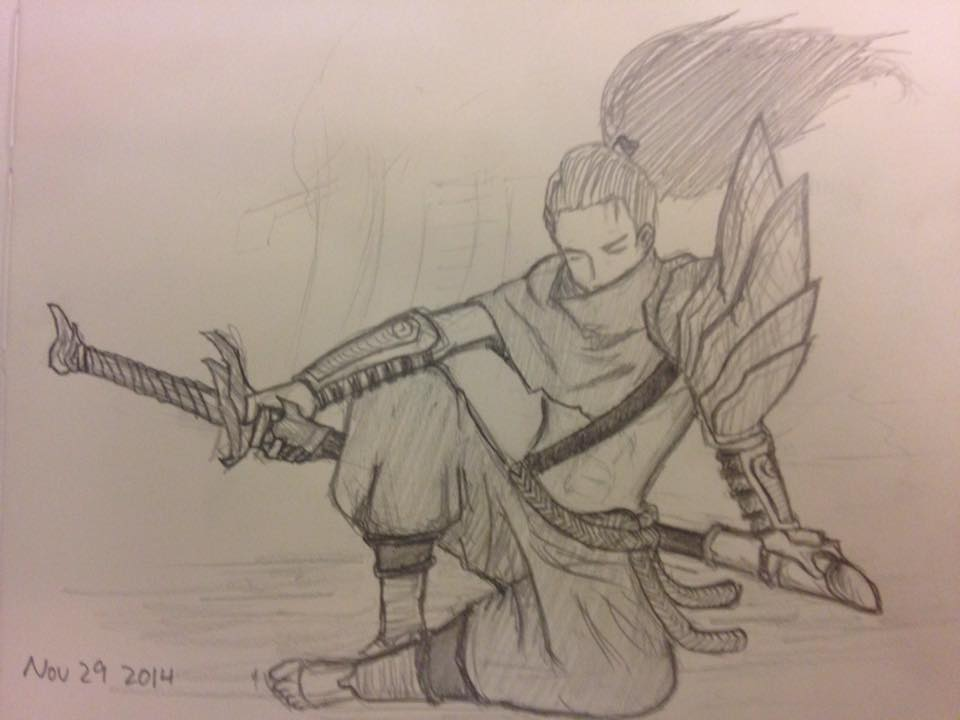 League Of Legends Sketch Yasuo By Usernamesaretooms On Deviantart Ahri from league of legends by ravn73 on deviantart. league of legends sketch yasuo by