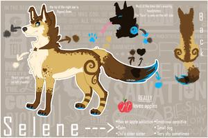Selene reference sheet 2013 [Fursona] by Kristten