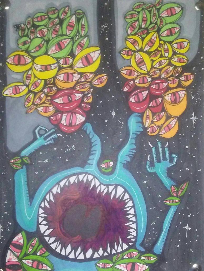 space monster by desertarttrip