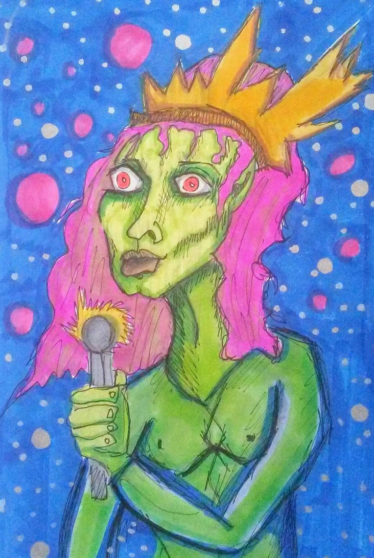 space zombie queen  by desertarttrip
