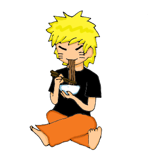 naruto eating ramen coloring pages - photo#13