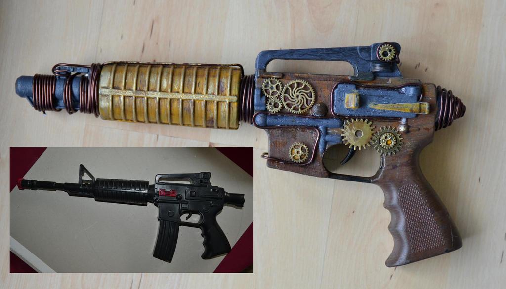 Steampunk Gun by o0Christina0o