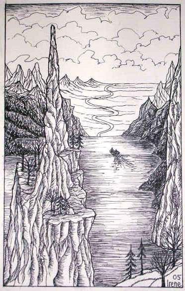 The sea burial of Boromir by IreneLangholm