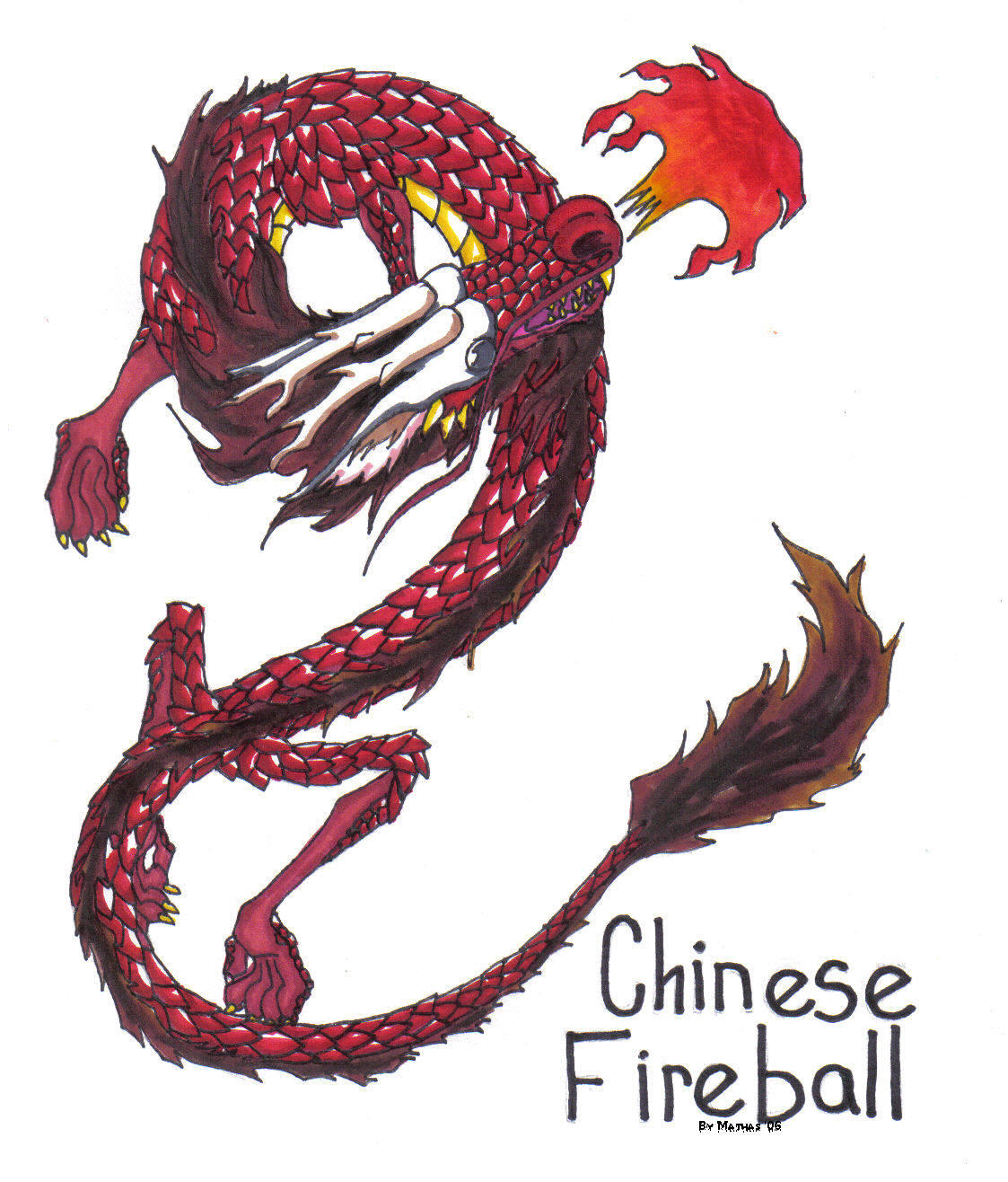 chinese fireball by mathas on deviantart