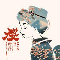 A Sakura Lady by yohansongart
