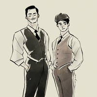 Two Dudes in the 1920s by yohansongart