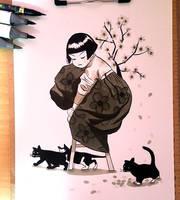 A Girl in Hanbok by yohansongart