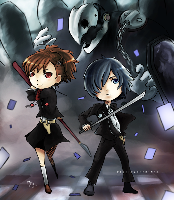 Persona 3 Protagonists by ceruleansprings