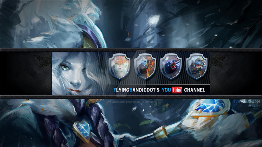 dota 2 themed youtube one channel design by flyingbandicoot on