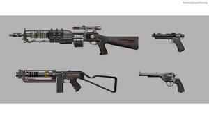 Dieselpunk gun exploration #02