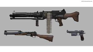 Dieselpunk gun exploration #03