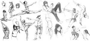 Female Sketches ioi by tantaku