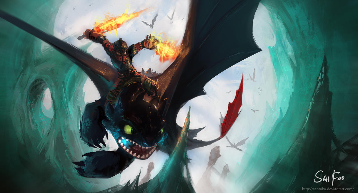 How To Train Your Dragon 2 by tantaku