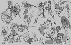 Random Sketches 2 by tantaku