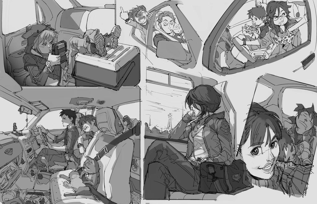 Random Sketches #4-travel by tantaku