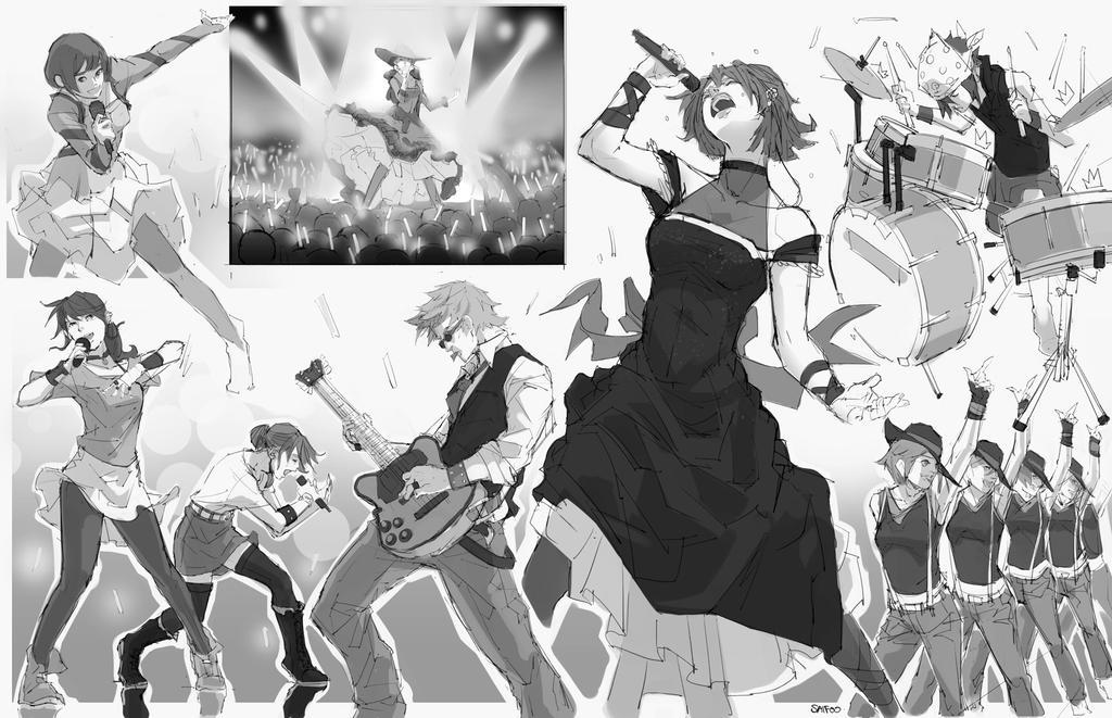 Random Sketches #6 - Concert~ by tantaku