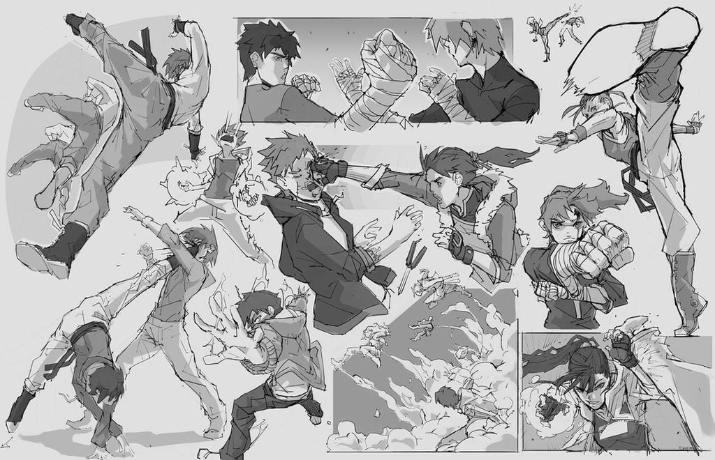 Random Sketches #7 - ShonenBattleEmptyHanded~ by tantaku