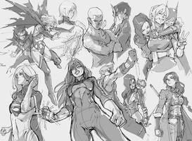 Teen Titans Sketches by tantaku