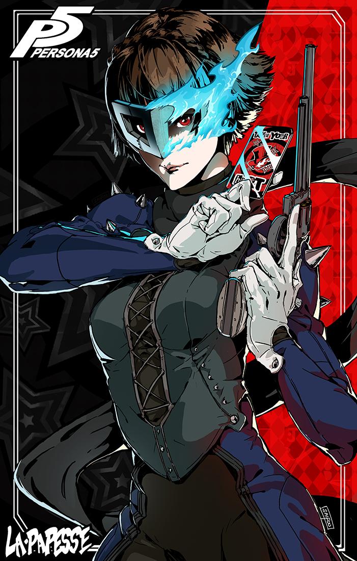 P5 Makoto Niijima Fan Art Queen Mask by tantaku