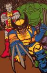 Wolverine - Colossus - Hulk