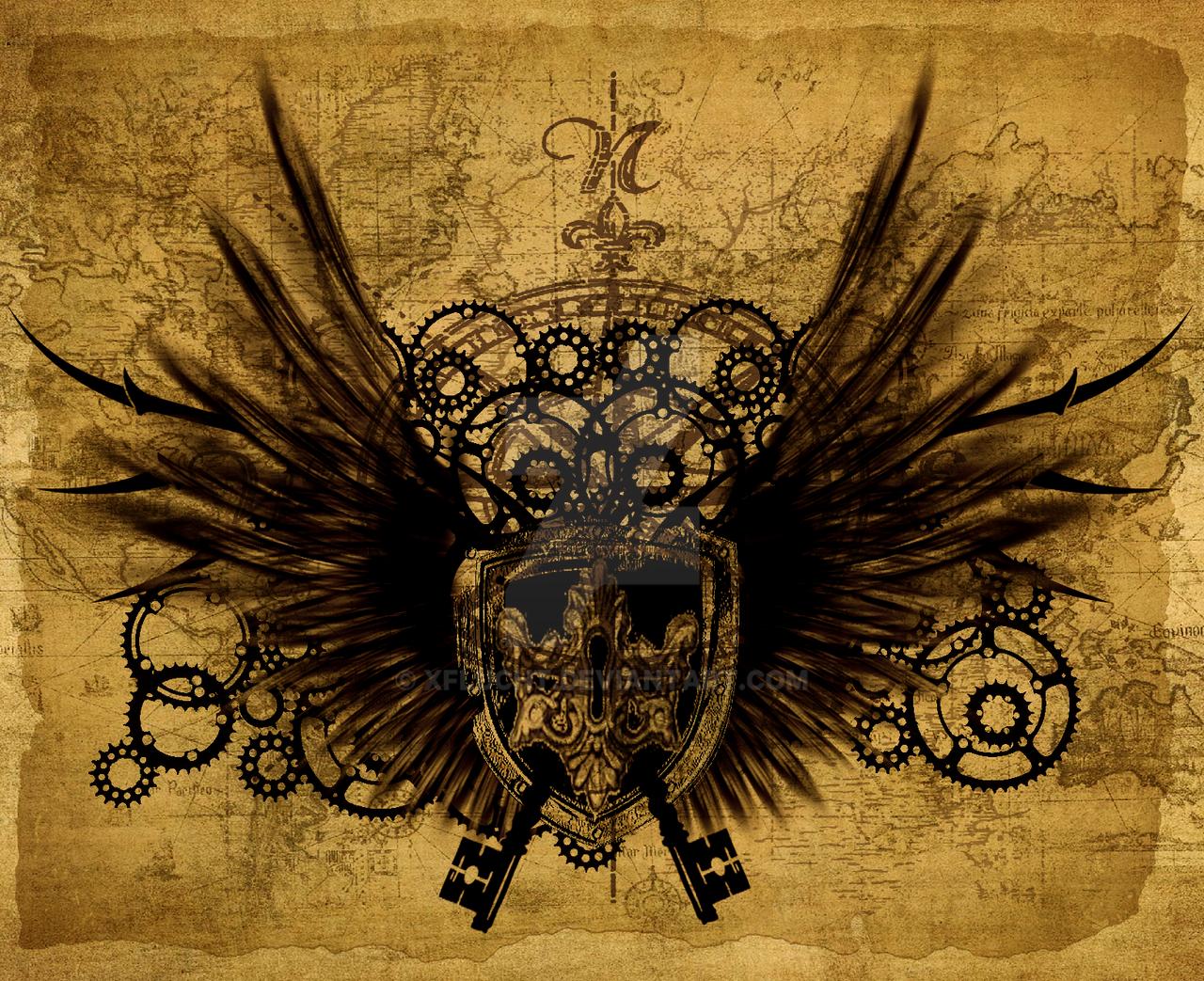 Steampunk wallpaper stage 6 by xFlucht on DeviantArt