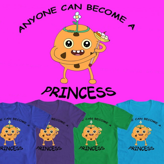 adventure time princess cookie tshirt design by stideshvn