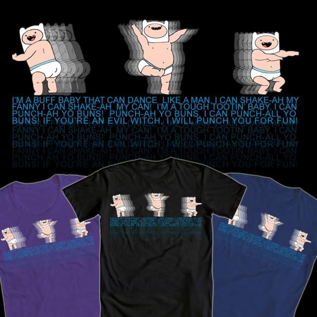 Adventure Time Baby Finn Tshirt Design By Stideshvn On