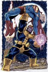 thanos defeat superman by namorsubmariner
