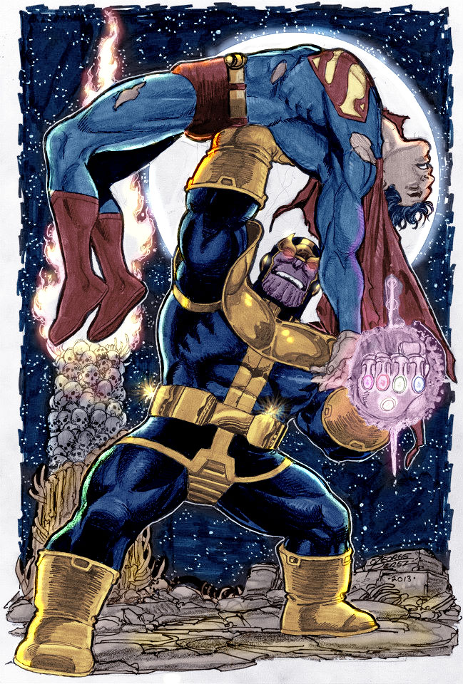 thanos defeat superman by namorsubmariner