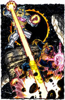 thanos vs antimonitor by g. perez by namorsubmariner