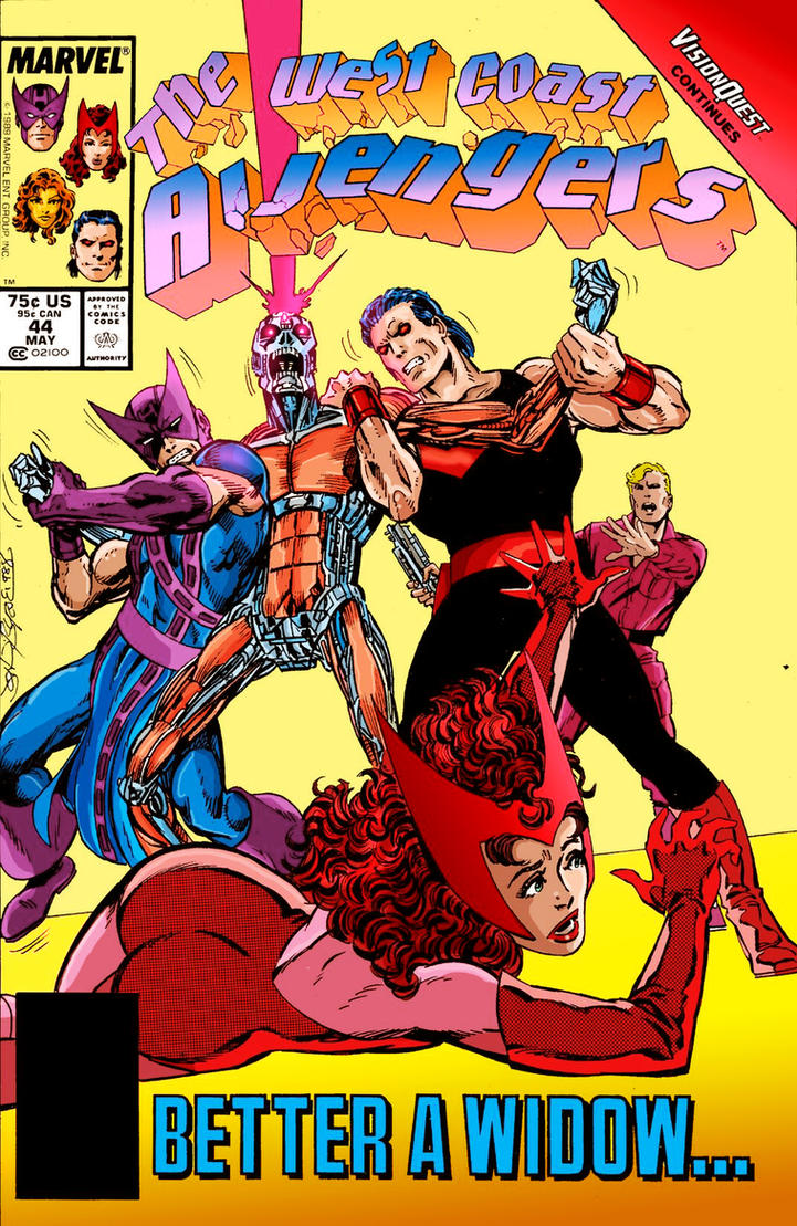 west coast avengers 44 by byrne recolored by namorsubmariner