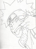 Naruto Uzumaki 8- Outline by ToraKage-BlackLight