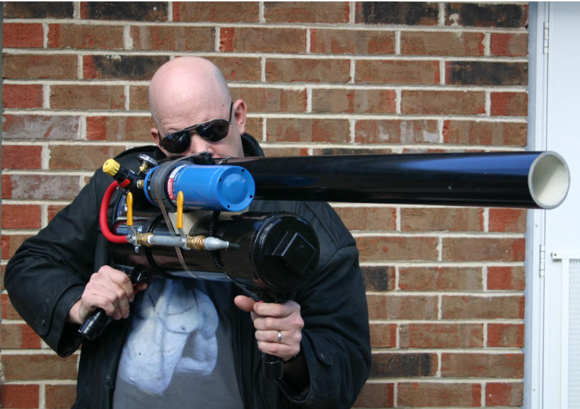 how to build a tennis ball cannon